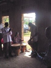 Drummers by the Door in Bujjowali Jan 2013