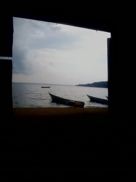 Through the church window - Village of Kasari B