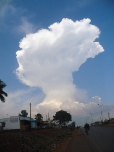 Amazing cloud formation near Jinja