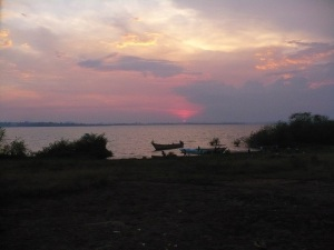 Sunset over Buvuma Island
